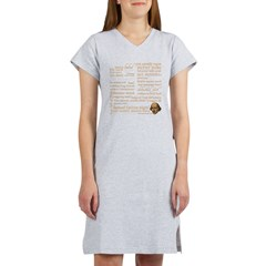 Shakespeare Insults T-shirts & Gifts Women's Nightshirt