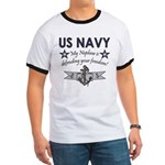 My Nephew is defending - Navy Ringer T