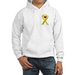 Keep My Daughter Safe Yellow Ribbon Hooded Sweatsh