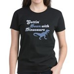 Gettin' Down With Dinosaurs Women's Dark T-Shirt