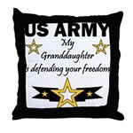 Army Granddaughter Defending Freedom Throw Pillow