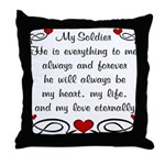Coast Guard Poem of Love Throw Pillow