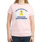 Keep My Brother Safe OIF Women's Pink T-Shirt