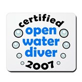 Open Water Diver 2007 Mousepad