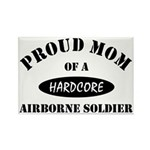 Proud Mom Airborne Soldier Rectangle Magnet (10 pa