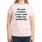 Do not confuse your rank with my authority Women's