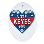 Vote Alan Keyes 2008 Political Ornament (Oval)