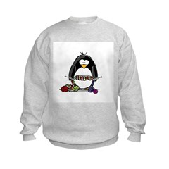 Knitting Penguin Kids Sweatshirt
