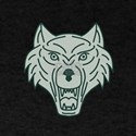 Gray Wolf Head Mono Line T-Shirt