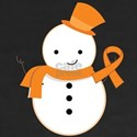 Orange Awareness Ribbon Snowman T-shirts