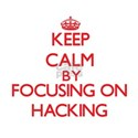 Keep calm by focusing on on Hacking T-Shirt