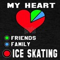 My Heart Friends, Family and Ice Skat T-Shirt