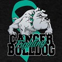 Ovarian Cancer Bulldog T-Shirt