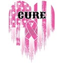Breast Cancer Cure White T-Shirt