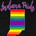 Indiana Pride with Rainbow Stripes T-Shirt