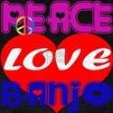 Peace Love Banjo T-Shirt