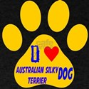 I Love Australian Silky Terrier Dog T-Shirt