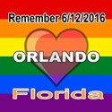 Rainbow Flag Heart Remember 6/12/2016 Orlando, Flo