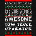 2017 1st Christmas Awesome Tow Truck Drive T-Shirt
