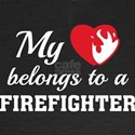 Heart Belongs Firefighter T-Shirt
