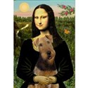 Mona Lisa & Airedale Women's T-Shirt