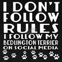 I Follow My Bedlington Terrier Dog T-Shirt