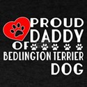 Proud Daddy Of Bedlington Terrier Dog T-Shirt