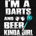 I'm A Darts And Beer Kinda Girl T Shirt T-Shirt