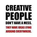 Creative People Mess Ideas T-Shirt