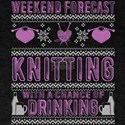 Weekend Forecast Knitting T Shirt T-Shirt