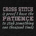 Funny Cross Stitch | Patience T-Shirt