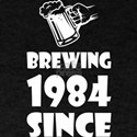 Brewing Since 1984 Beer Fathers Day Gift T-Shirt