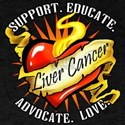 Liver Cancer Heart Tattoo T-Shirt