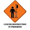 Cancer destruction in progress White T-Shirt