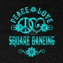 Peace Love Square Dancing T-Shirt