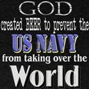US Navy Beer Dark T-Shirt
