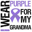 I Wear Purple Ribbon For My Grandma Shirts & Gifts