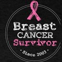 Breast Cancer Survivor Awareness Since 200 T-Shirt