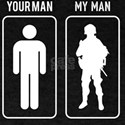 Your Man My Man Military Patriots And Vete T-Shirt