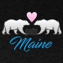 Maine Polar Bear Heart T-Shirt