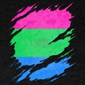 Polysexual Pride Flag Ripped Reveal T-Shirt