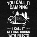 Camping Drunk With Insects T-Shirt