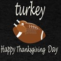 Thanksgiving Day Funny Trukey And Touchdow T-Shirt