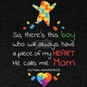 This Boy He Calls Me Mom Autism Awareness T-Shirt