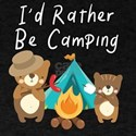 I'd Rather Be Camping Bears Camping De T-Shirt
