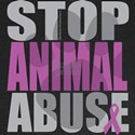 Stop Animal Abuse(Paw) Women's Long Sleeve Dark T-