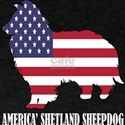 American Shetland Sheepdog Dog Flag Memori T-Shirt