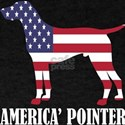 American Pointer Dog Flag Memorial Day USA T-Shirt