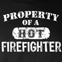 Property of a Hot Firefighter Long Sleeve Dark T-S