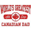 Canadian Dad White T-Shirt